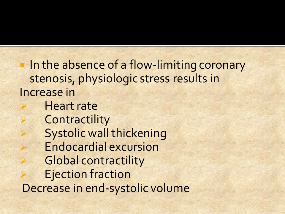 In the absence of a flow-limiting coronary stenosis, physiologic stress results in