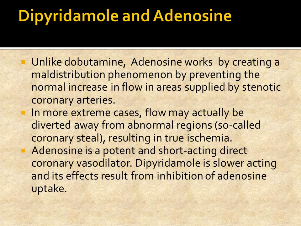 Dipyridamole and Adenosine