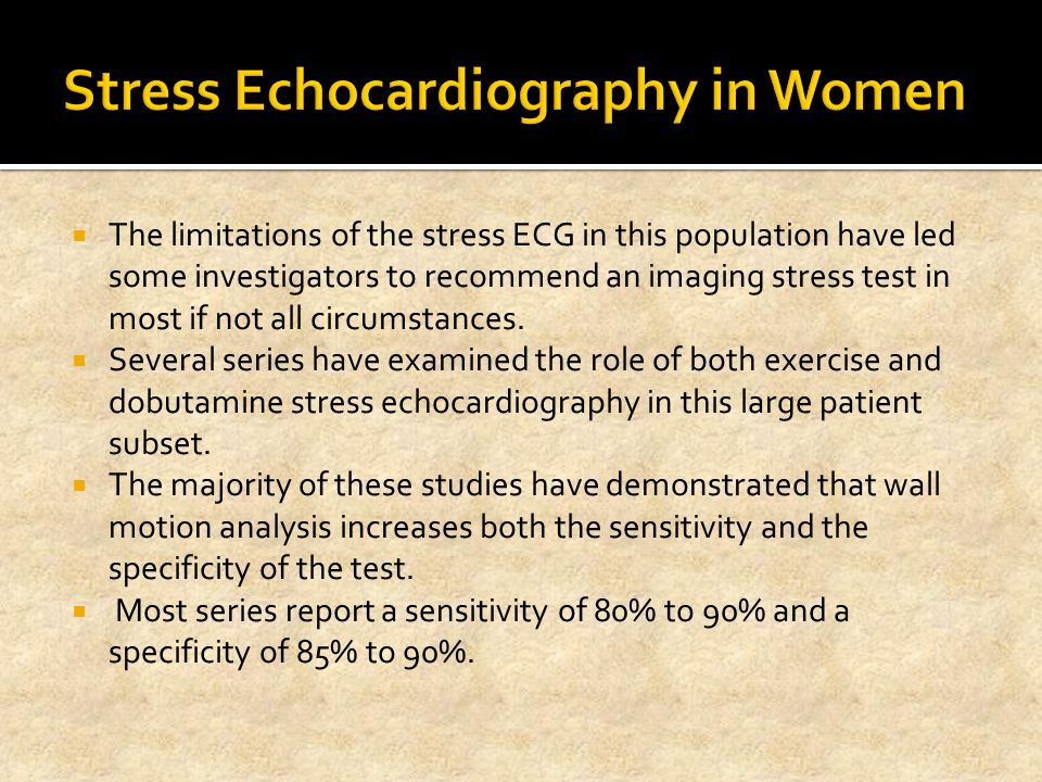 Stress Echocardiography in Women