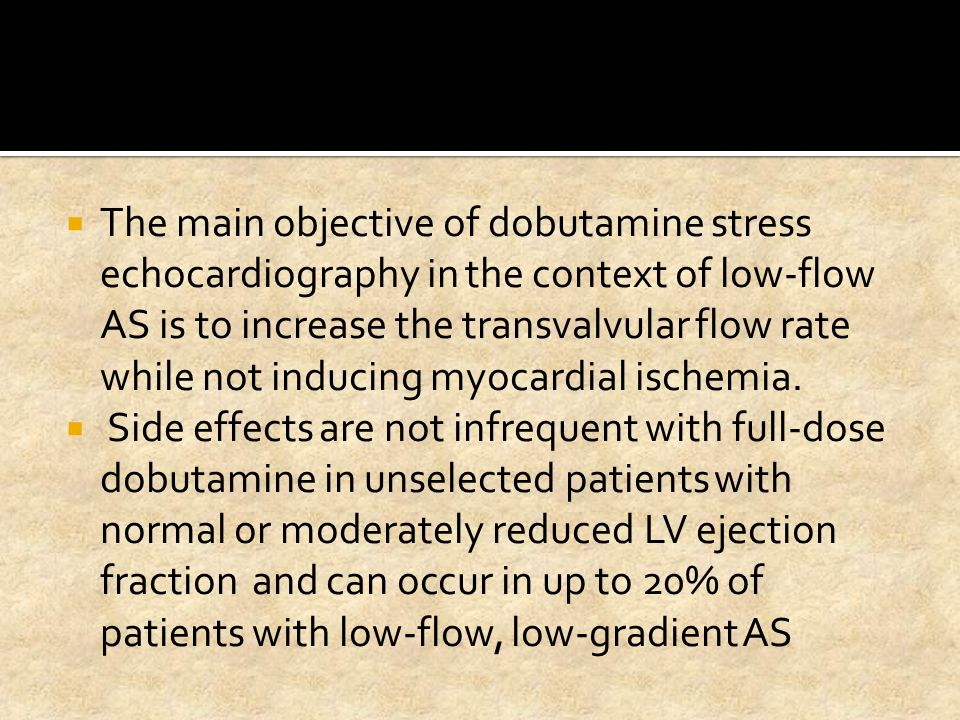 The main objective of dobutamine stress echocardiography in the context of low-flow AS is to increase the transvalvular flow rate while not inducing myocardial ischemia.