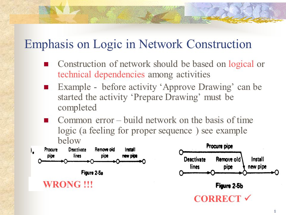 Emphasis on Logic in Network Construction