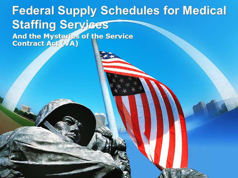 Federal Supply Schedules for Medical Staffing Services