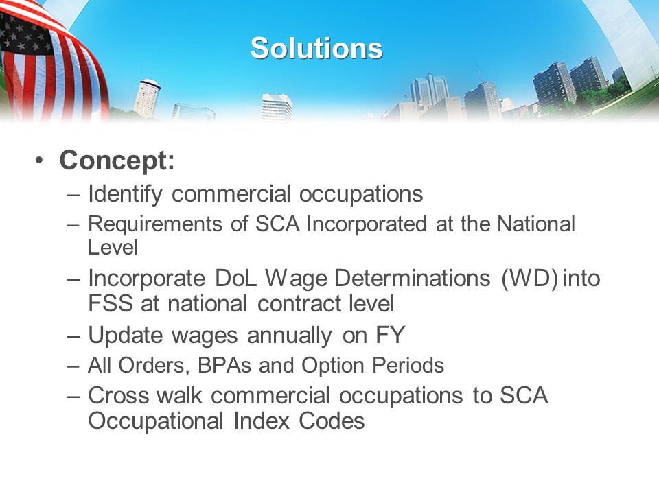 Solutions Concept: Identify commercial occupations