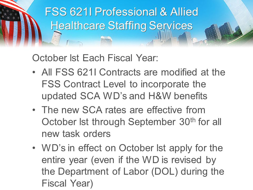 FSS 621I Professional & Allied Healthcare Staffing Services