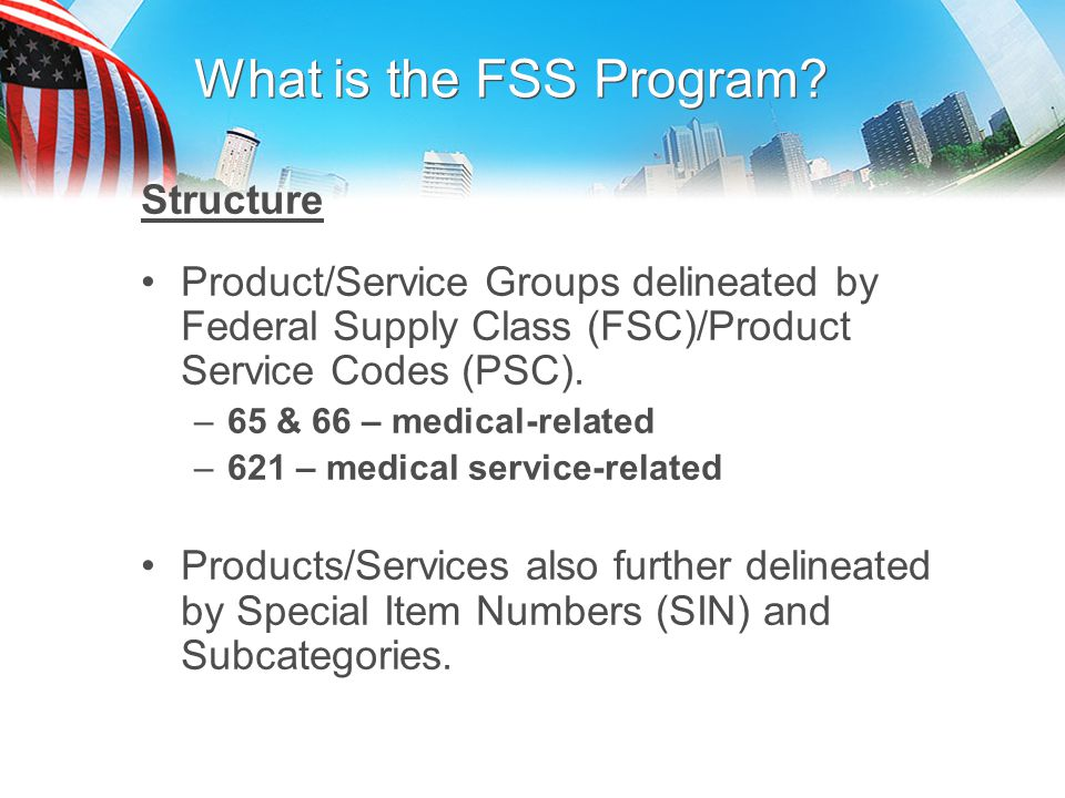 What is the FSS Program Structure