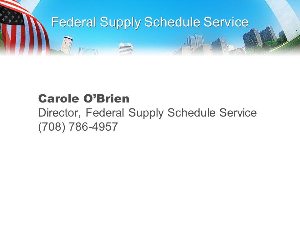 Federal Supply Schedule Service