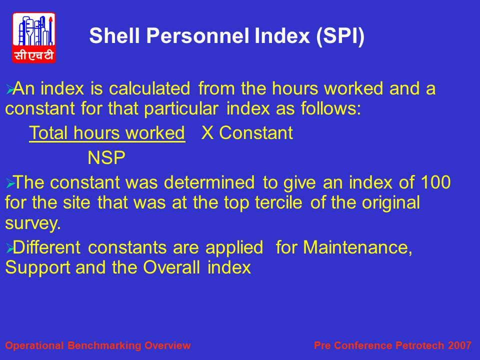 Shell Personnel Index (SPI)