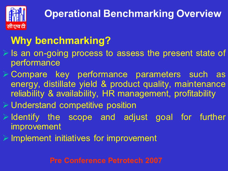 Operational Benchmarking Overview
