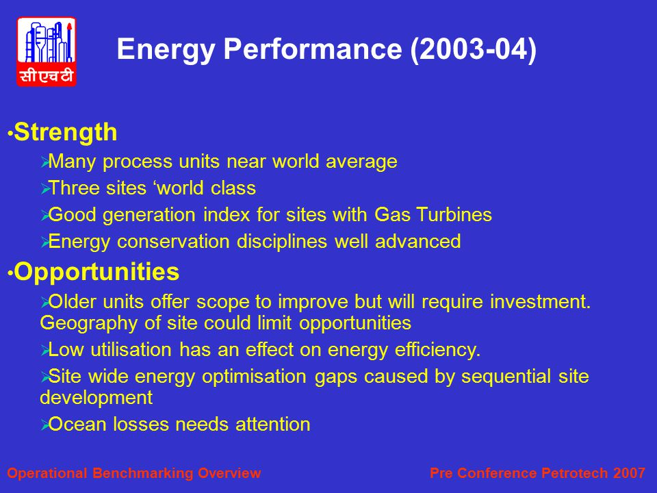 Energy Performance (2003-04)
