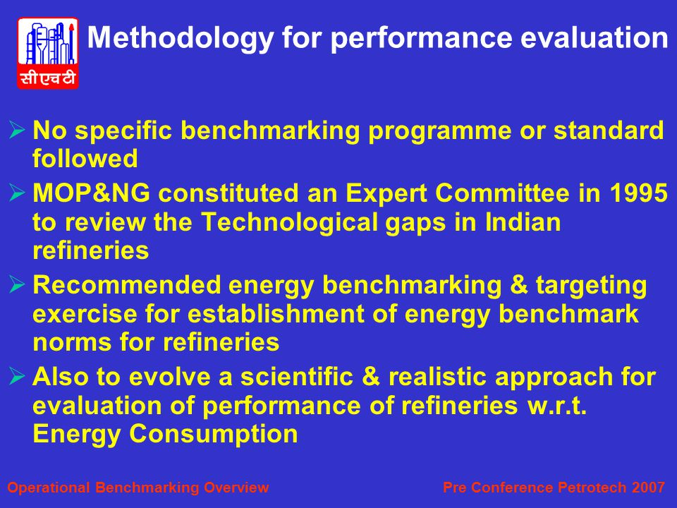 Methodology for performance evaluation