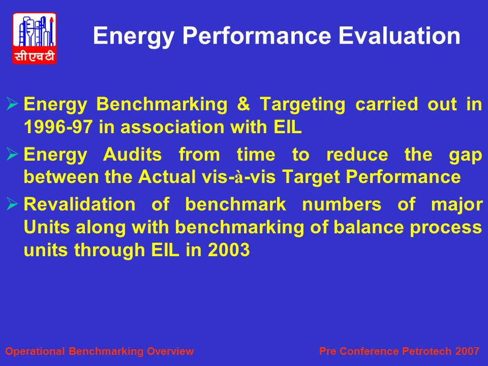 Energy Performance Evaluation