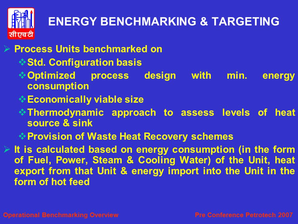 ENERGY BENCHMARKING & TARGETING