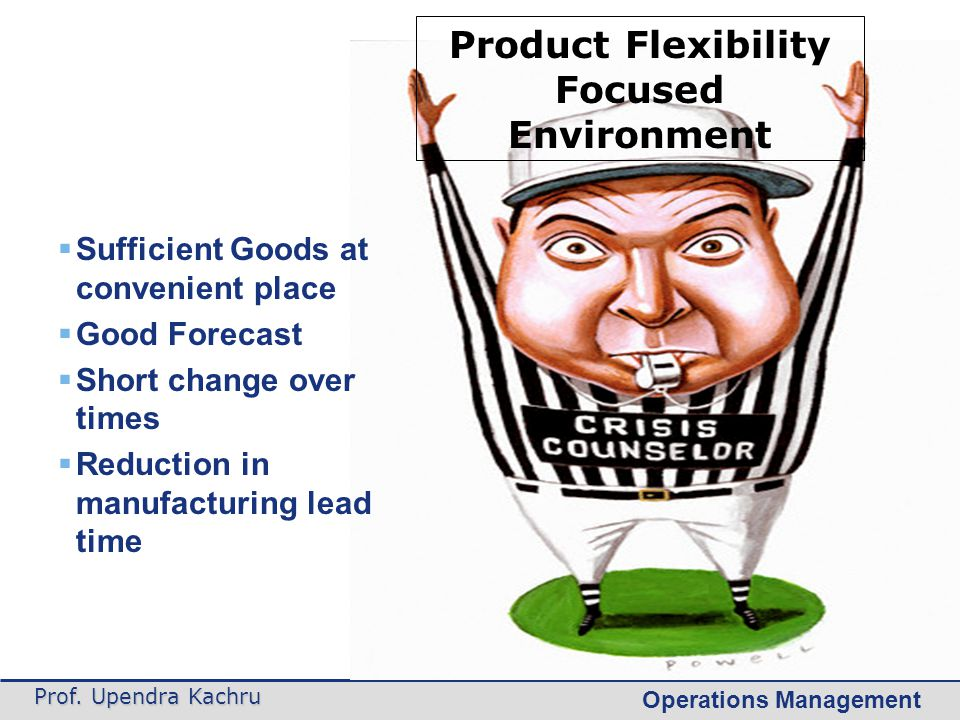 Product Flexibility Focused Environment