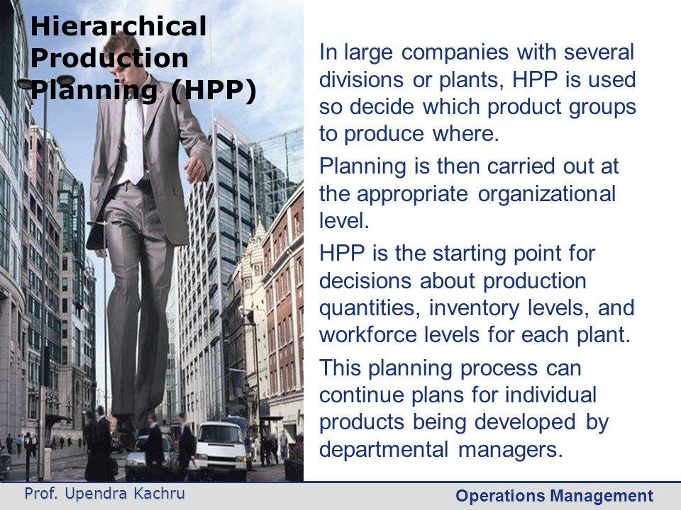 Hierarchical Production Planning (HPP)