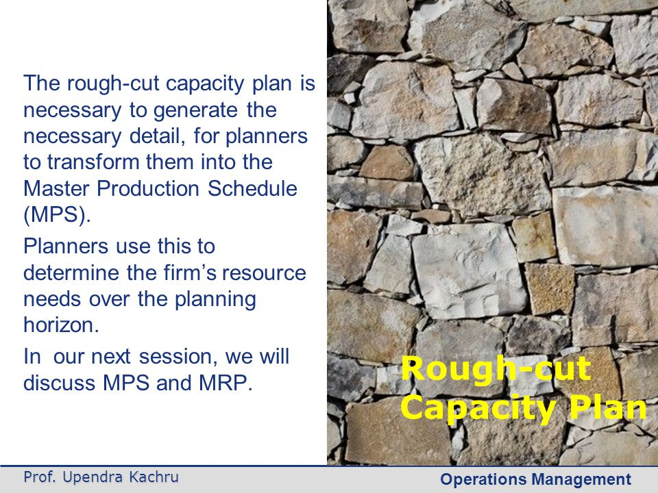 Rough-cut Capacity Plan