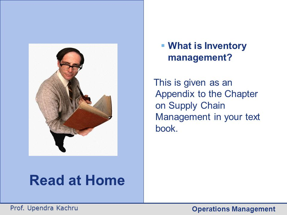 Read at Home Forecast control What is Inventory management