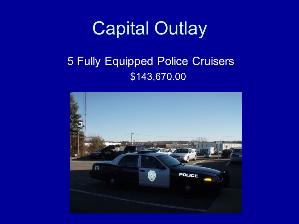 5 Fully Equipped Police Cruisers
