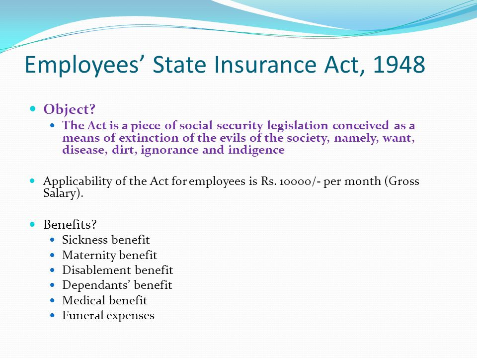 Employees' State Insurance Act, 1948