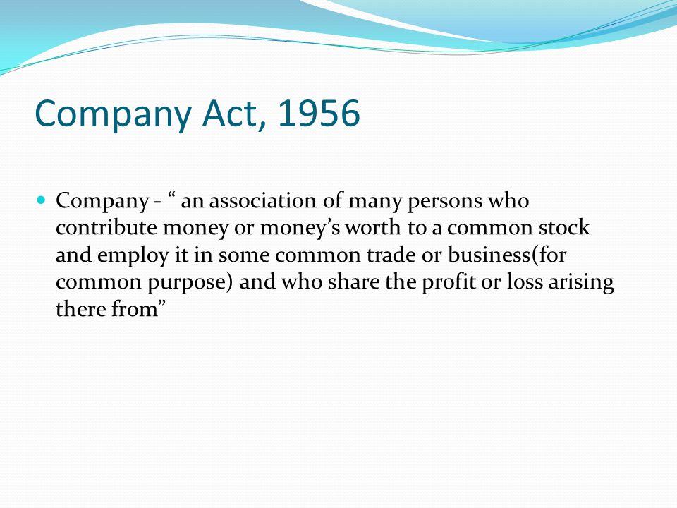 Company Act, 1956