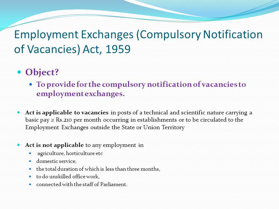 Employment Exchanges (Compulsory Notification of Vacancies) Act, 1959