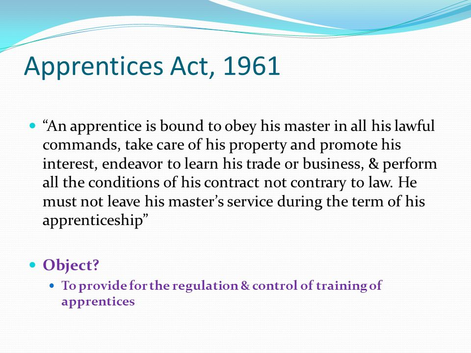 Apprentices Act, 1961