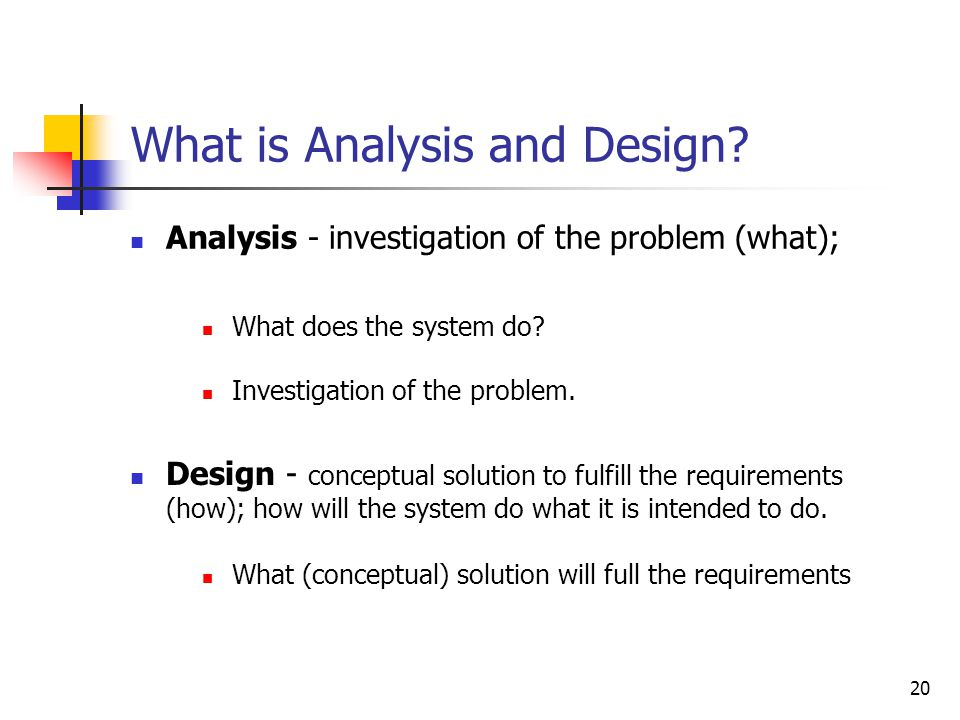 OO Analysis and Design: Objectives
