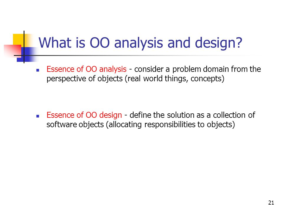 What is Analysis and Design