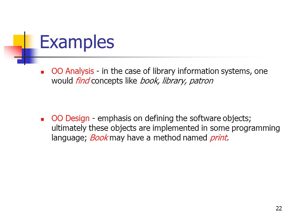 What is OO analysis and design