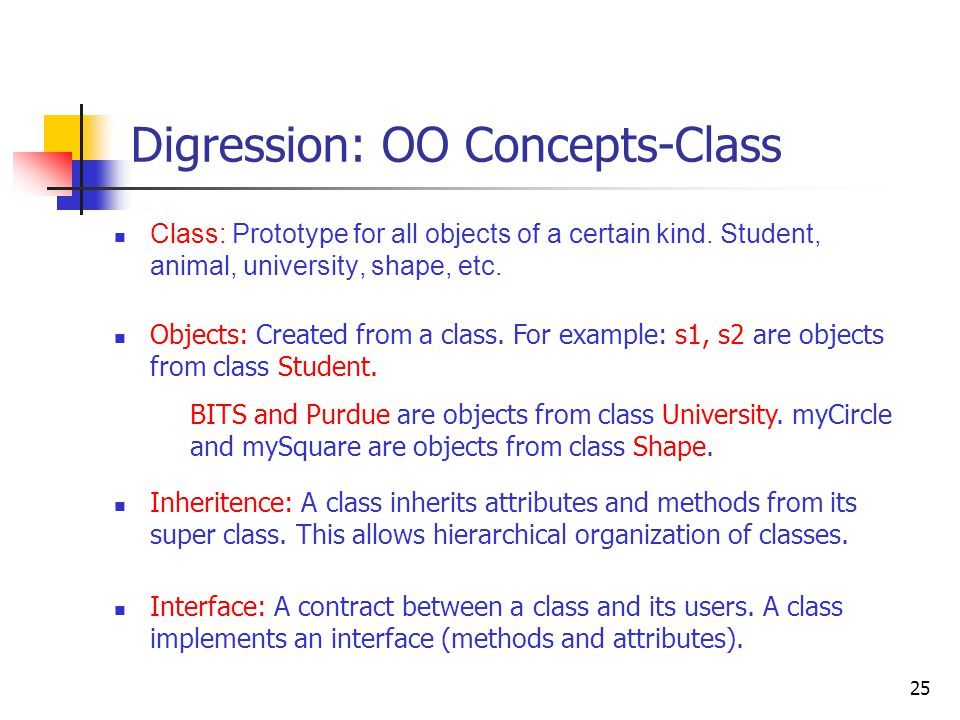 Digression: OO Concepts-Objects