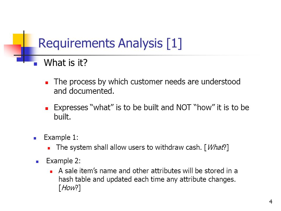 Contents Requirements Analysis: What and How Unified Process