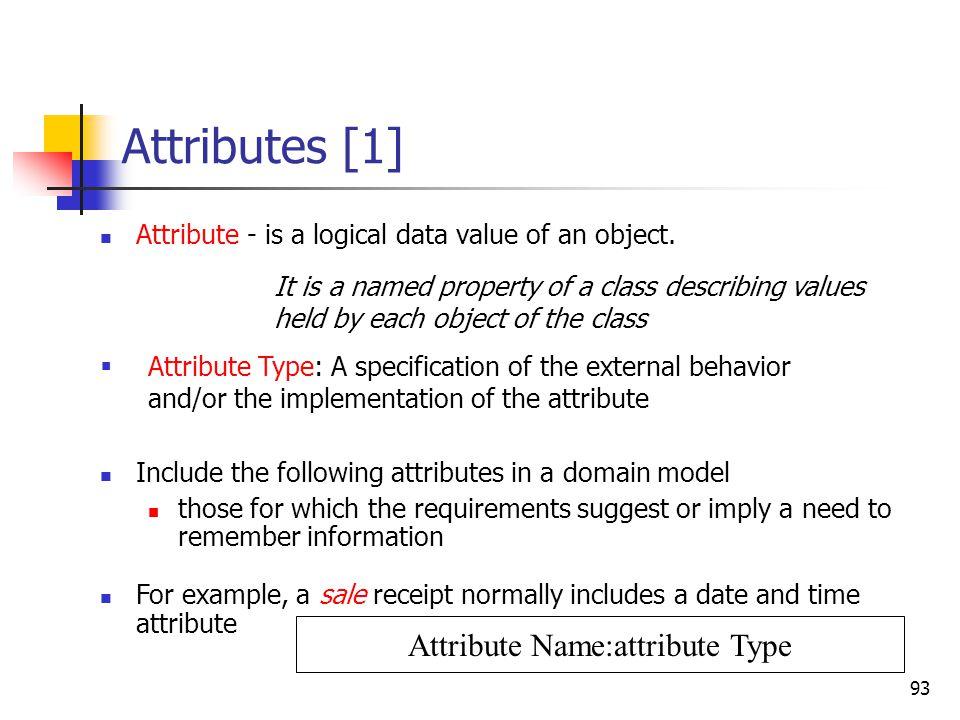 Conceptual Model - Attributes