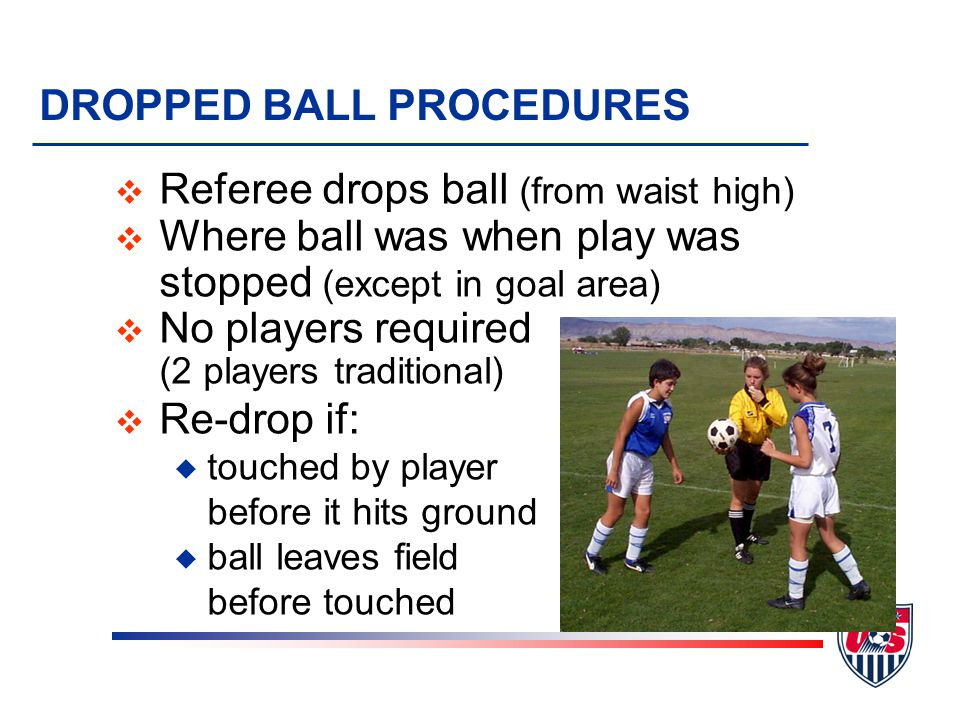 DROPPED BALL PROCEDURES