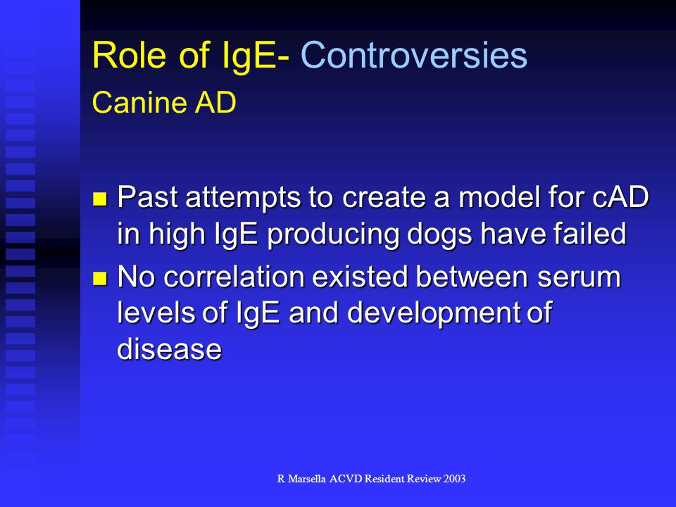 Role of IgE- Controversies Canine AD