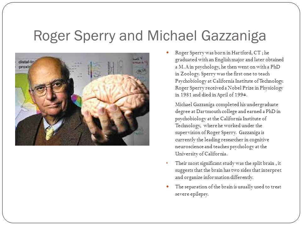 Roger Sperry and Michael Gazzaniga