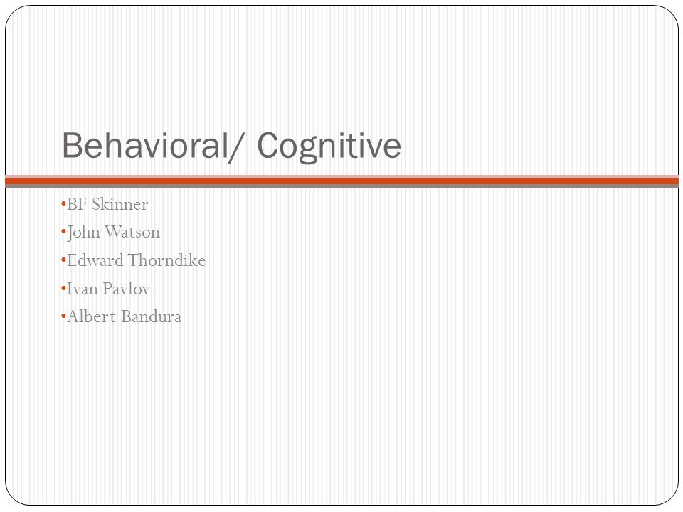 Behavioral/ Cognitive