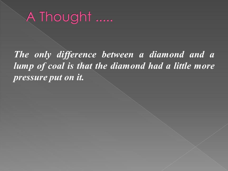 A Thought .....