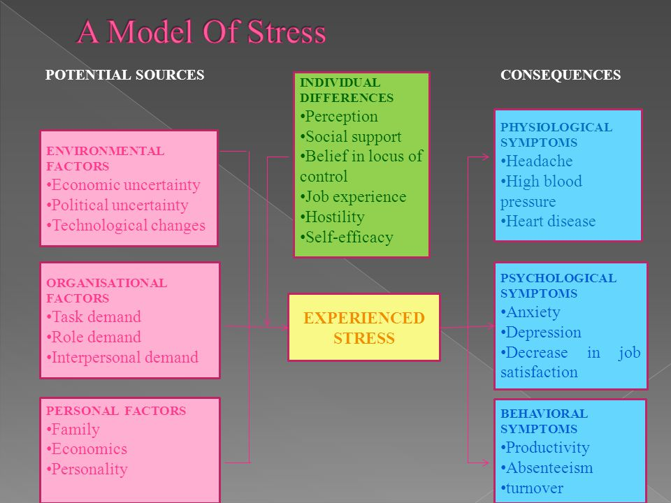 A Model Of Stress Perception Social support Belief in locus of control