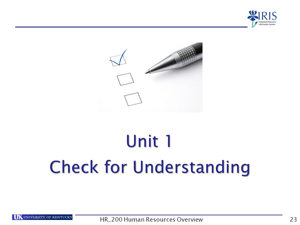Unit 1 – Check for Understanding