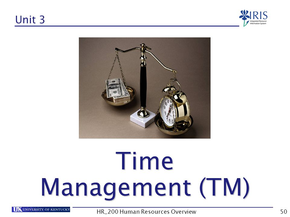 Unit 3 Time Management (TM)