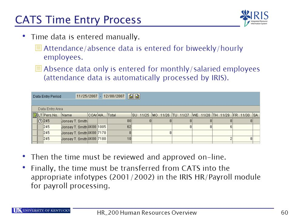 CATS Time Entry Process