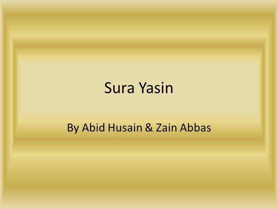By Abid Husain & Zain Abbas