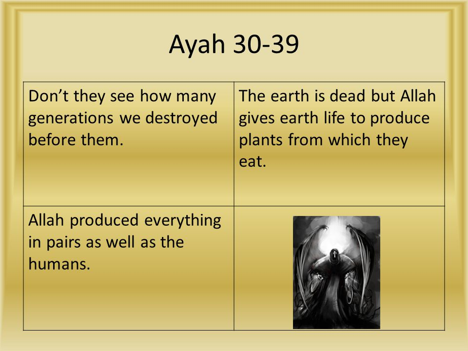 Ayah 30-39 Don't they see how many generations we destroyed before them.