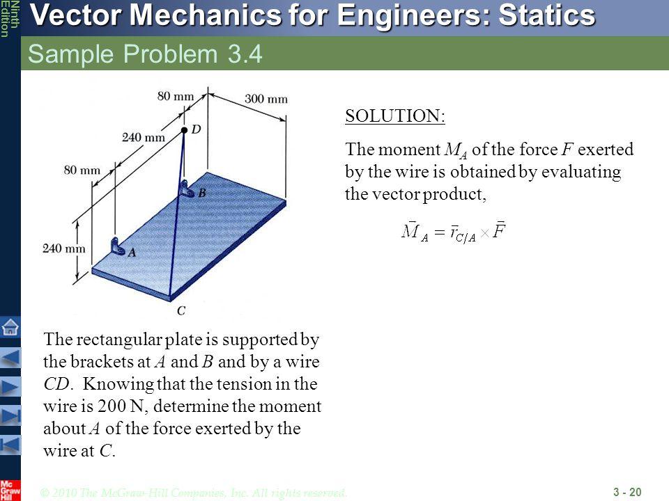 Sample Problem 3.4 SOLUTION: