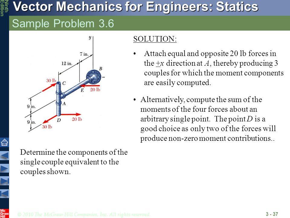 Sample Problem 3.6 SOLUTION: