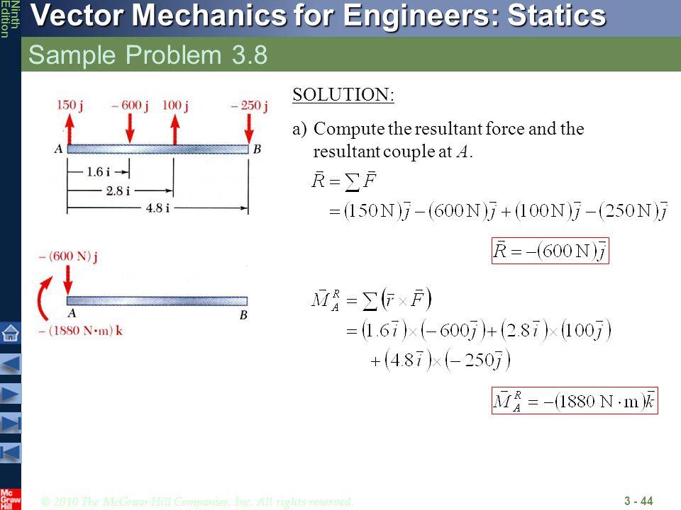 Sample Problem 3.8 SOLUTION: