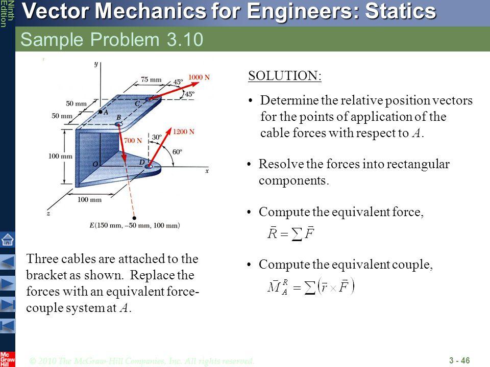 Sample Problem 3.10 SOLUTION: