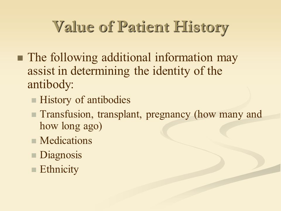 Value of Patient History