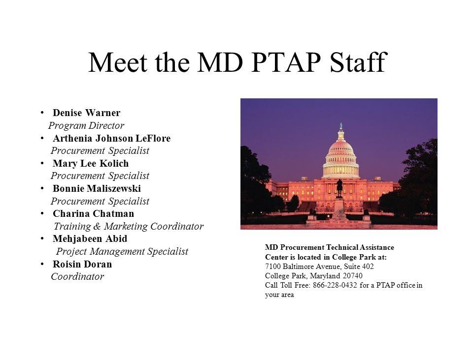 Meet the MD PTAP Staff Denise Warner Program Director