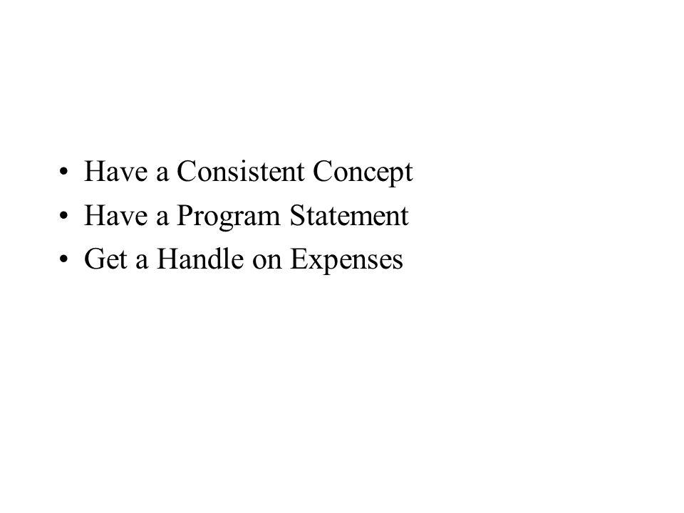 Have a Consistent Concept