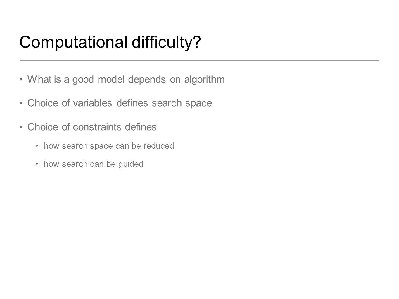 Computational difficulty